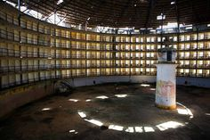 """Presidio Modelo was a former """"model prison"""" of Panopticon design, located on the Isla de la Juventud in Cuba, built between 1926 and d. Cuba, Abandoned Cars, Abandoned Places, Desert Places, Political Prisoners, Medieval World, Principles Of Design, Historical Artifacts, Urban Exploration"""
