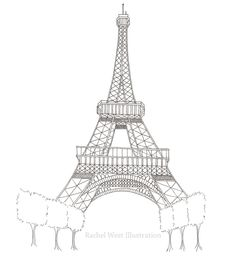 Printable Eiffel Tower Coloring Pages Free Rose Coloring Pages, Coloring Pages For Grown Ups, Barbie Coloring Pages, Butterfly Coloring Page, Printable Coloring Pages, Colouring, Eiffel Tower Drawing Easy, Bubble Guppies Coloring Pages, Eiffel Tower Pictures