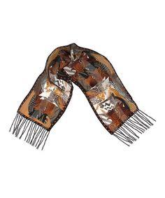 Brown Moroccan Mares Silk Scarf #zulily #zulilyfinds