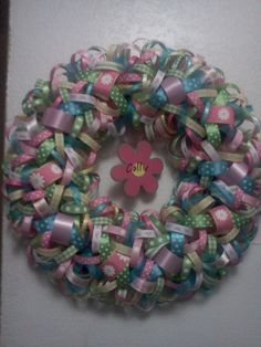 Baby Girl Ribbon Wreath