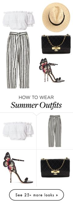 """""""Summer Outfit"""" by salbiylaazzara-fashion on Polyvore featuring River Island, LoveShackFancy, Sophia Webster and Chanel"""
