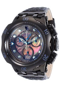 46fa653e80f8 Image for Men s Jason Taylor Reserve Chrono Black Genuine Leather and MOP  Dial from World of Watches