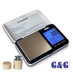 G&G – Báscula digital de precisión – Peso máximo: 300 g / Granularidad: 0, 01 g – Color Blanco | Joyería online, joyas de Plata y Oro.