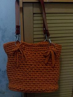 Bag from t-shirt yarn