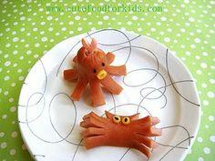 Hot Dog Octopus and Crab · Edible Crafts | CraftGossip.com
