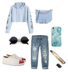 """""""Blue"""" by mindaandea on Polyvore featuring Hollister Co., Little Liffner, Recover, Charlotte Olympia and Hoodies"""