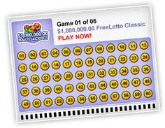 Game 1: $1,000,000.00 FreeLotto Classic Online Lottery Games, Win Money, Winning Numbers, Game 1, Cool Stuff, Classic, Cook, Christmas, Recipes