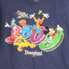 2009 Disneyland Resort Walt Disney Mickey Mouse Blue T-Shirt XL Extra Large #WaltDisneyWorld #GraphicTee