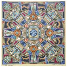 Mandala art by South African artist Lize Beekman