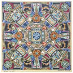Mandala art by South African artist Lize Beekman