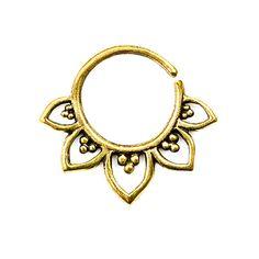 Tribal Septum Ring for pierced nose. septum by Umanativedesign