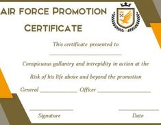 Promotion Certificate Template : Free Templates for Students, Employees & Army - Template Sumo Warrant Officer, Certificate Templates, Above And Beyond, Promotion, Army, Student, Life, Gi Joe, Military