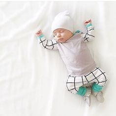 Modern Square Baby Boy Coming Home Outfit by SnugAsaBugClothes
