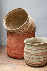 African Iringa Baskets  These multi-tasking Iringa baskets from Tanzania smartly contain all manner of clutter.