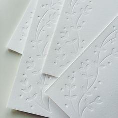 Blind embossing by Pretty Paper #letterpress #blindembossing #prettypapper