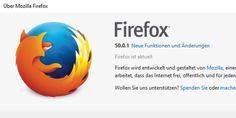 """Firefox 50.0.1 steht zum Download bereit-Mit Firefox 50.0.1 stopfen die Entwickler von Mozilla die als kritisch eingestufte Sicherheitslücke, für die Sie hier das dazugehörige Mozilla Foundation Security Advisory 2016-91 finden. Von dieser Lücke sind sowohl Firefox 50 als auch Firefox 49 betroffen. Vor der Lücke warnt auch das Bundesamt für Sicherheit in der Sicherheitstechnik und schätzt das Risiko im dazugehörigen Security-Bulletin CB-K16/1847 als """"sehr hoch"""" ein."""