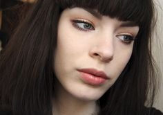 By Bri Wolz. #neutral #bangs #makeup #everyday #natural Great look for everyday by Killer Colours. @Bloom.com
