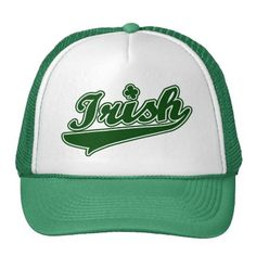 St Patrick Day Baseball Hats - fun way to dress the team and good luck, too!