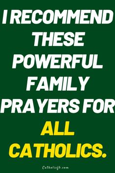 These are different kinds of prayers each catholic can pray for the family. Prayer For Family, Family Family, Miracle Prayer, Catholic Prayers, Power Of Prayer, God Jesus, Gods Love, Words Quotes, Religion