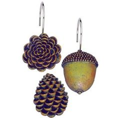 Amazon.com: Pine Cones Shower Curtain Hooks (Set of 12): Home Improvement