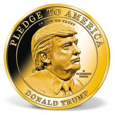 Donald Trump - Make America Great Again High-Relief Commemorative Coin Types Of Gold, Us Border, Bullion Coins, Coins For Sale, Commemorative Coins, Interesting News, Silver Coins, American Flag, Donald Trump