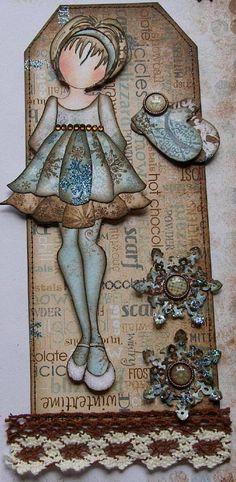 Scrap Escape  -Scrap Escape blog:  Design work for Prima Marketing using Julie Nutting's new doll stamp sets and other Prima goodies.  #julienutting, #primamarketing