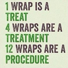 Most people see their results after just ONE wrap!! But why stop there ?!