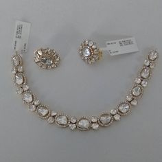 bridal sets & bridesmaid jewelry sets – a complete bridal look Diamond Pendant Necklace, Diamond Jewelry, Diamond Earrings, Necklace Set, Diamond Necklaces, Gold Jewellery, Jewellery Holder, Jewellery Sale, Gold Necklaces