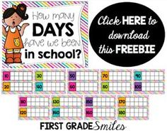 First Grade Smiles: Setting up a new classroom. 1st Grade Calendar, Kindergarten Calendar, Calendar Activities, Classroom Calendar, Kindergarten Math, Math Activities, Calendar Time, Calendar Songs, Calendar Wall