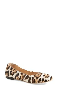 Chloé 'Lauren' Scalloped Ballet Flat (Women) available at #Nordstrom