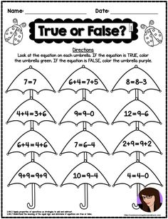These NO PREP Spring Math Printables require NO PREP. Every page is aligned to the Common Core Math Standards for each grade level. The Common Core standard is written at the bottom of every page! Fun Worksheets For Kids, Kindergarten Math Worksheets, Teaching Math, Addition Worksheets, Math Addition, Teaching Ideas, Second Grade Math, First Grade, Grade 1