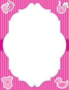 Printable baby girl border. Free GIF, JPG, PDF, and PNG downloads at http://pageborders.org/download/baby-girl-border/