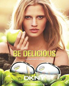 Lindsey Karlis- This ad is an example of publicity. DKNY is sending a message to women that says using this perfume will make you as alluring as this woman and as delicious as a fresh green apple. This ad shows women what they desire to be. Publicity is a form of visual persuasion. Photos-All-Lara-Stone-Cosmetics-Fragrance-Beauty-Ad-Campaigns