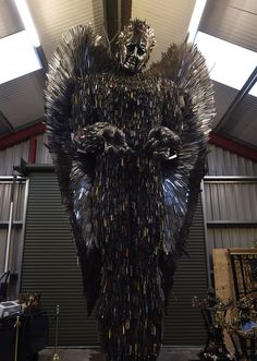 'Knife Angel' sculpture is made out of 100,000 knives collected by the police : pics