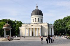 Moldova: Cathedral Park is one of the obvious attractions in Chisinau and is simply referred to as the Central Park. Republica Moldova, The Second City, European Travel, Travel Europe, Eastern Europe, Capital City, Taj Mahal, Beautiful Places, Exterior