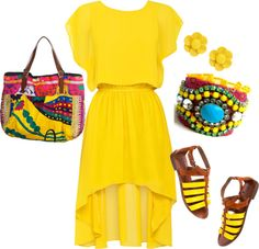 """Yellow"" by jessiehlavin on Polyvore"