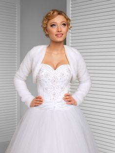 New Wedding White Faux Fur Jacket Bridal Wrap Shrug Bolero Coat Shawl-B18 #BRANDED #BolerosShrugs