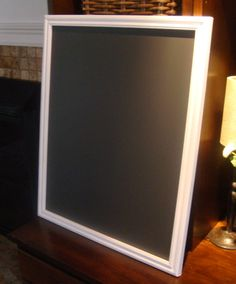 Chalkboard Simple White Frame 17 1/2 x 21 1/2 inches by PoshPilfer/Etsy!