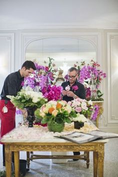 Hotel Plaza Athenee centenary celebrations, behind the scenes, floral arrangements 1(c)Tom Parker-sipa