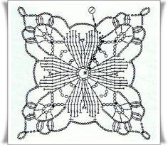 TEJIDOS A CROCHET - GANCHILLO - PATRONES: GRAFICOS=CROCHET=GANCHILLO=CUADRITOS