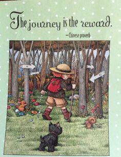 Handmade Fridge Magnet-Mary Engelbreit Artwork-The Journey