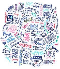 Love Love Love - ballpoint doodles Art Print   - for more inspiration visit http://pinterest.com/franpestel/boards/