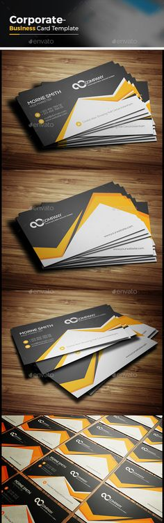 Corporate Business Card Template Vector EPS, AI #design Download: http://graphicriver.net/item/corporate-business-card/14407429?ref=ksioks