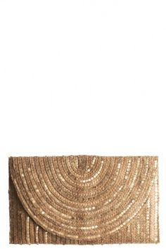 Fetish clutch: straw & sequins...yes please! :)