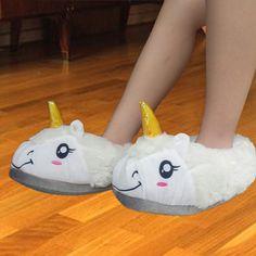 Unicorn Slippers Women Home 2016 Winter Indoor Chinelo Thick Slip Cartoon Funny Mop Cotton Pantufas De Pelucia Feminin Shoes #clothing,#shoes,#jewelry,#women,#men,#hats,#watches,#belts,#fashion,#style