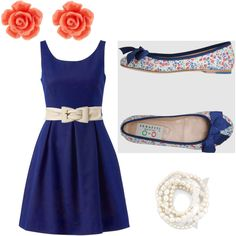 Navy and Coral- Casual and classy :)