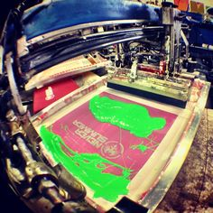 Today's Agenda! @neversummerindustries #screenprinting #apparel #denver #colorado #greenslime #superiorink