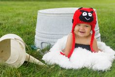 Ladybug Hat- photography prop- costume