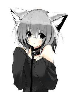 Shy neko - neko-anime-character