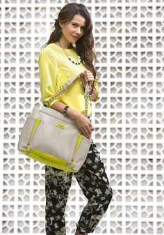 We just love this neon yellow with our black and white #jewelry! #michefashion #fashion #summerfashion